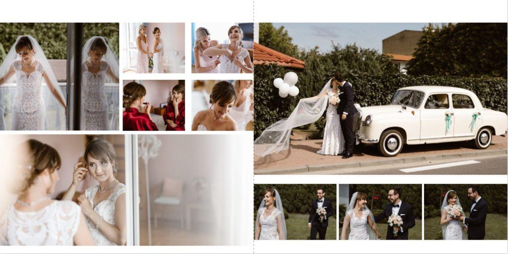 zdjęcia w albumie ślubnym