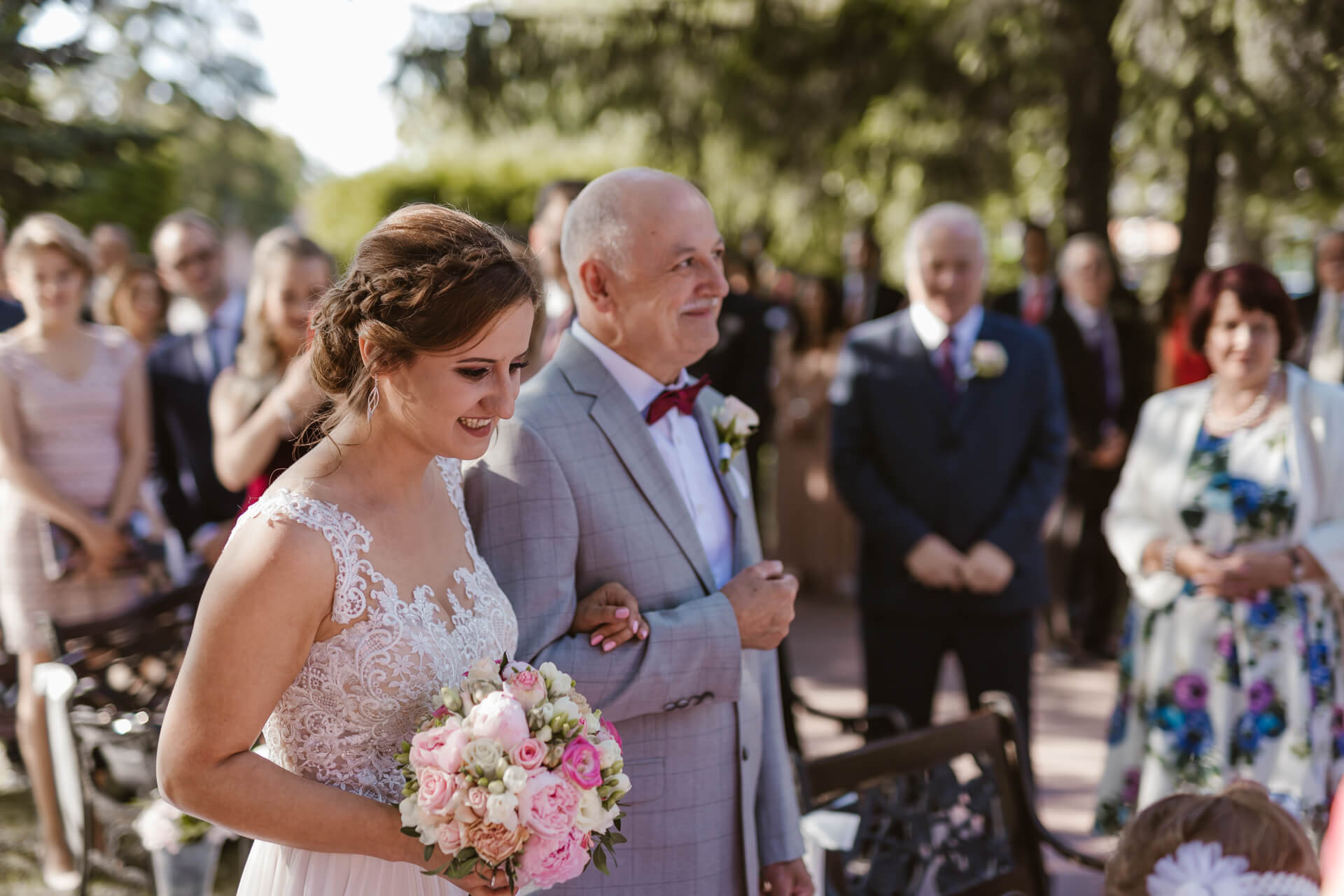 stary młyn ślub w plenerze